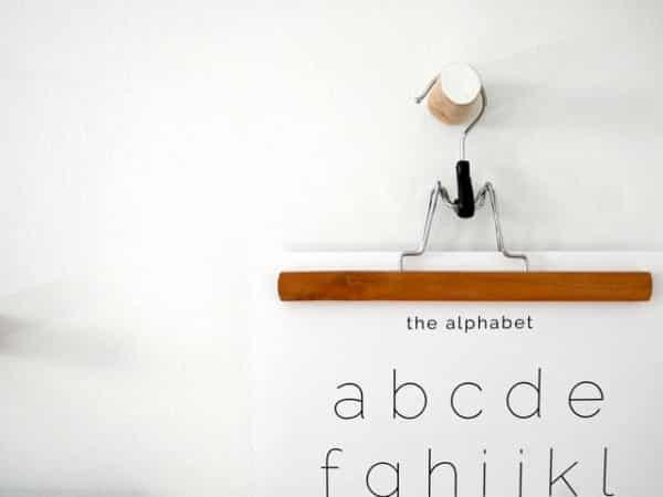 Lámina The Alphabet - Ilustración Niños Profesores