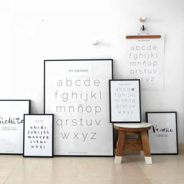 Conjunto de láminas The Alphabet en aula profesores - Ilustración Niños Profesores