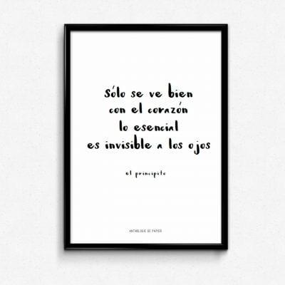Lámina El Principito - Frases