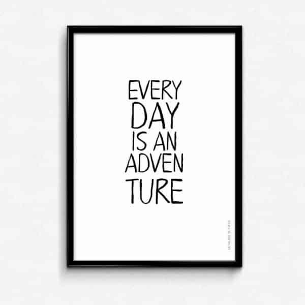 Lámina Adventure - Frases - Elige tu color - Negro