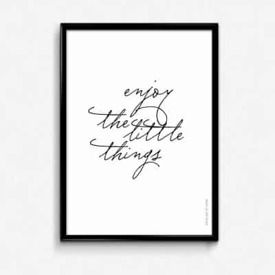 Lámina Enjoy the little things - Frases Regalo