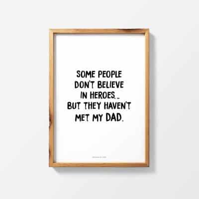 Lámina Best Dad Hero - anthologie