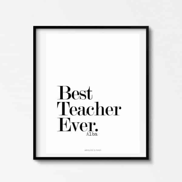 Lámina Best Teacher 3 - Frase