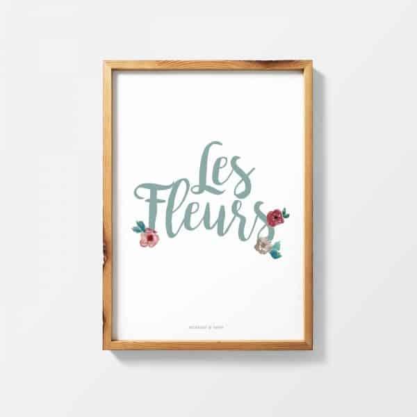 Lámina Les Fleurs base - Ilustración