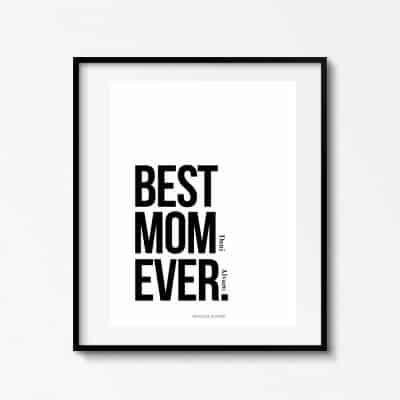 Lámina Best Mom Ever Personalizable - Ilustración