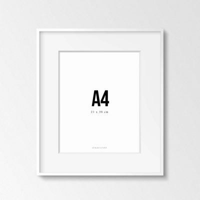 Marco Blanco A4 de Anthologie de Papier