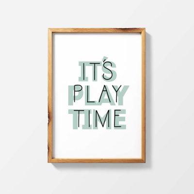 Lámina It's Play Time - Ilustración Frrases