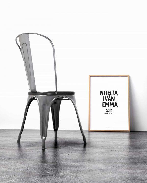 Lámina Family - Nombres Silla