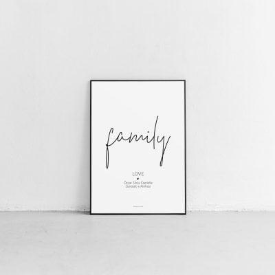Lámina Family Love personalizada - Frase
