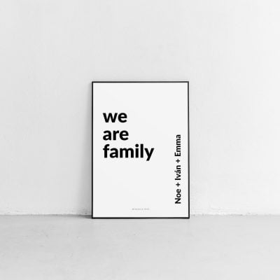 Lámina Family and Names personalizada - Frase
