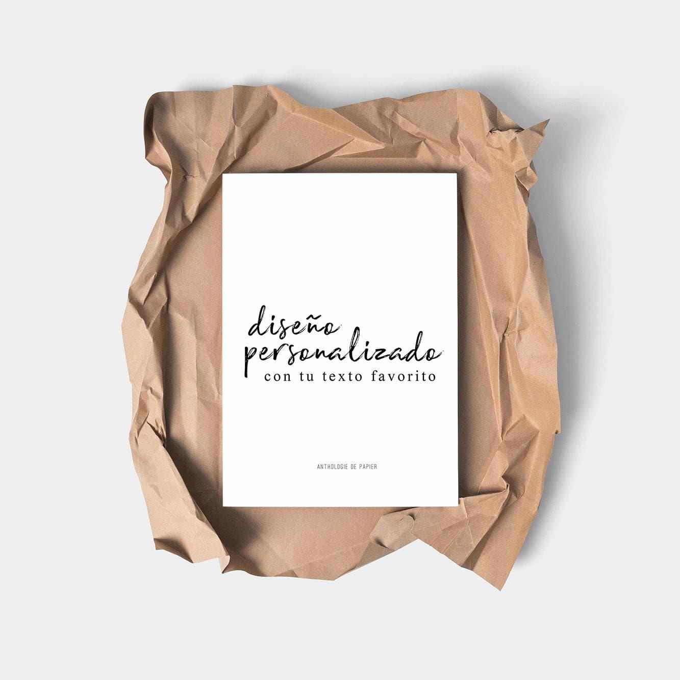 Láminas personalizadas | AnthologieDePapier