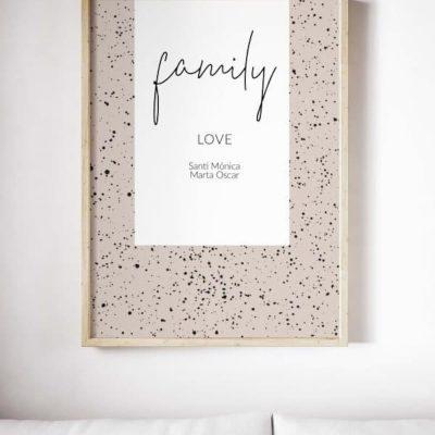 Lámina Family Rose personalizada - Frase